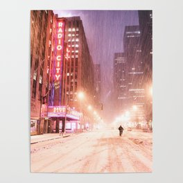 Snowstorm in New York City Poster