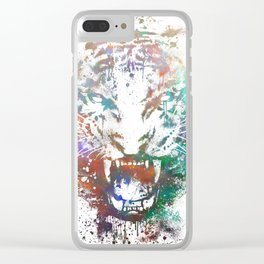 Cosmic Fury Clear iPhone Case