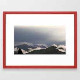 Cloudy Chili Coast Framed Art Print