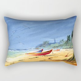 Sudden Storm at Maunabo Beach Puerto Rico Rectangular Pillow