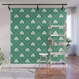 SHAMROCK ON! - emerald Wall Mural