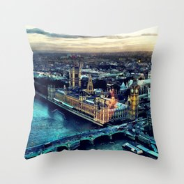 London watercolor Throw Pillow