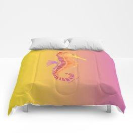 Sunset Seahorse Comforters