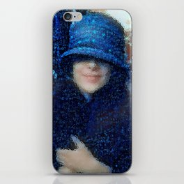 The Blue Cloche Hat iPhone Skin