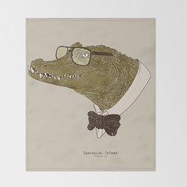 Spectacle(d) Caiman Throw Blanket