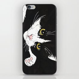 Black and white cat iPhone Skin