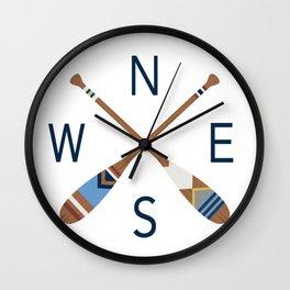 Oar Compass Wall Clock
