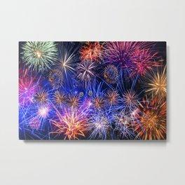 Celebration Fireworks Metal Print