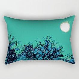 Moon Aflame Rectangular Pillow