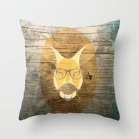 kangaroo Throw Pillows featuring Kangaroo by Janice