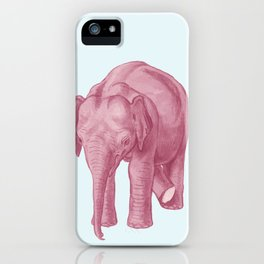 Pink elephants and the emperor of icecream iPhone Case