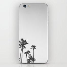 Black and White California Palms iPhone Skin