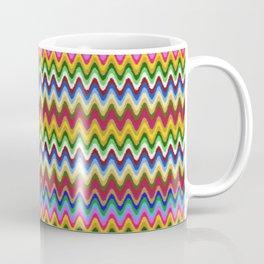 Rainbow, multicolored waves in ethnic style Coffee Mug