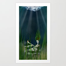 Stone Siren Art Print
