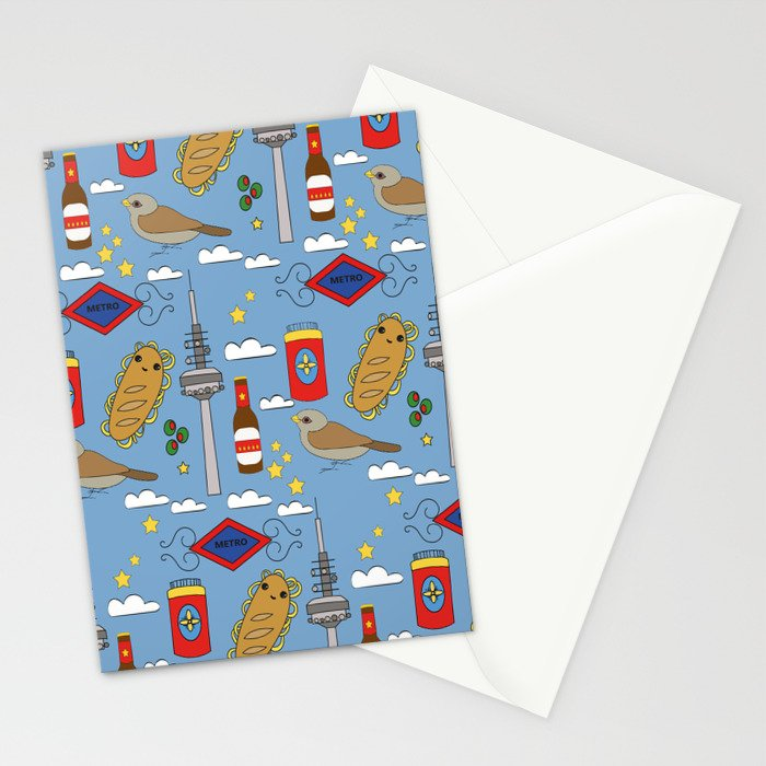 Madrid Pattern Stationery Cards