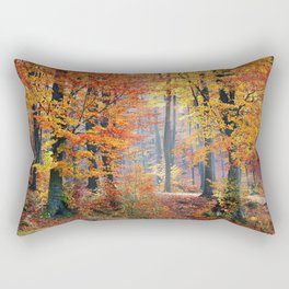 Colorful Autumn Fall Forest Rectangular Pillow