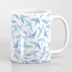 Blue Watercolor Birds Mug