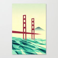 Misty day at the Golden Gate Canvas Print