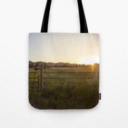 Montana at sunset Tote Bag