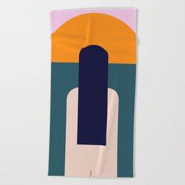 Sun Gazing Girl Beach Towel