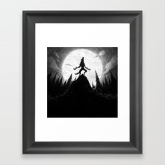 Drawlloween 2013: Werewolf Framed Art Print