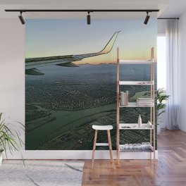 Landing together with the sun Wall Mural