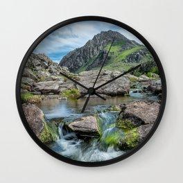 Tryfan Mountain Stream  Wall Clock