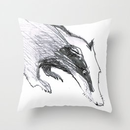 The Badger Throw Pillow
