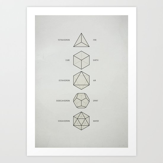 The Platonic Solids Art Print