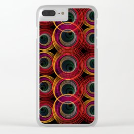 Circled Retro Clear iPhone Case