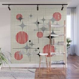 Starbursts and Globes 2 Wall Mural