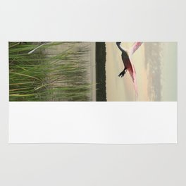 The Spoonbills of Lake Saint George Rug