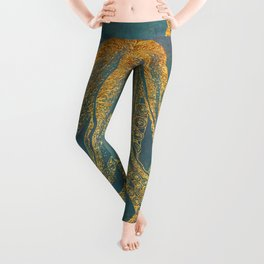 Deep Sea Life Octopus Leggings