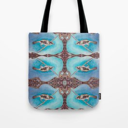 Bird Song Pattern Tote Bag