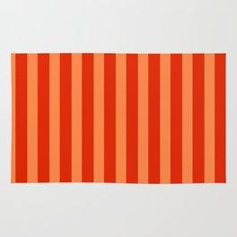 Red & Orange Stripes Rug