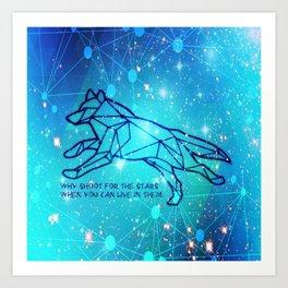 Livin in the Stars Art Print