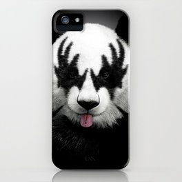 Panda rocks iPhone Case