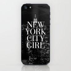 New York City Girl Black & White iPhone Case iPhone & iPod Skin