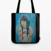 grimes Tote Bags featuring Grimes by Jenn