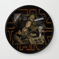 starwars Wall Clocks featuring STARWARS by zinakorotkova