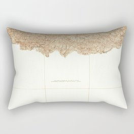 Azusa, CA from 1933 Vintage Map - High Quality Rectangular Pillow