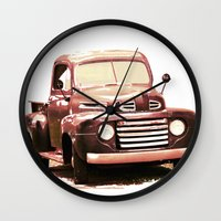 truck Wall Clocks featuring Old Truck by Regan's World