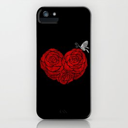 A Butterfly to be, a Rose to blossom... iPhone Case