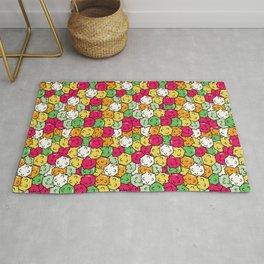 Kawaii Japanese candy Konpeito pattern design Rug