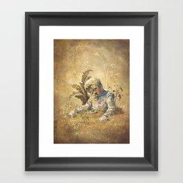 Desert Astronaut Framed Art Print