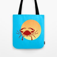 cancer Tote Bags featuring Cancer by Geni