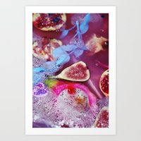 fig Art Prints featuring fig by maisiecousins