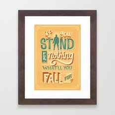Make a stand Framed Art Print