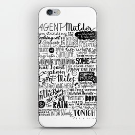 Into the woods tonight   Dana Scully iPhone Skin