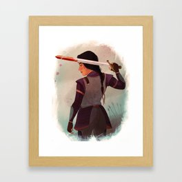 Lady Knight Framed Art Print